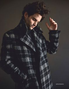 Penn Badgley Stars in Da Man Cover Shoot, Talks 'You' Penn Badgley Stars in Da Man Cover Shoot, Talks 'You',pretty pics Channeling his inner model, Penn Badgley dons a checked coat by Michael Kors with a sweater. Pretty Men, Beautiful Men, Man Magazine, Fashion Sale, Fashion Outfits, Men's Fashion, Fashion Pants, Trendy Outfits, Fashion Tips