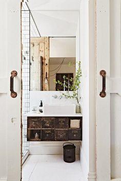 Vintage salle de bain en tendance