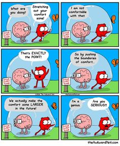 """I love this depiction of the struggle of """"the comfort zone."""""""