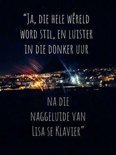 Sekerlik een van Koos Kombuis se mooiste liedjies #Afrikaans Afrikaans, Van, Cards Against Humanity, Words, Quotes, Movie Posters, Piano, Qoutes, Film Poster