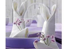 Serviette paques lapin