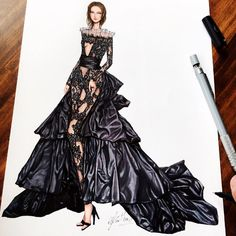 """7,073 Likes, 44 Comments - Eris Tran (@eris_tran) on Instagram: """"My illustration for upcoming collection of local fashion designer. Asian inspiration!!! #sketch…"""""""