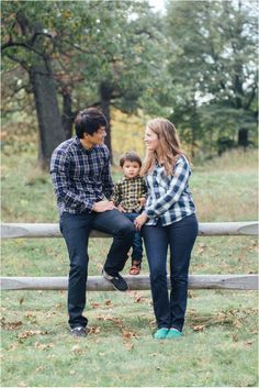 Family on fence wearing Toms and plaid shirts | Family Lifestyle Portrait Session | Kimberly Walker | Toronto Family Photography