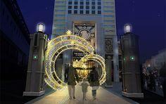 "The Park flont Hotel at USJ Japan ""SPARKLE CHRISTMAS"" illuminations☆#Osaka http://eturaku.jp/osirase.php?notice_id=373"