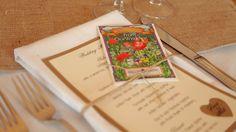 menus & favors (wildflower seed packets)