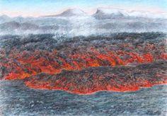 SeniorTip Volcanoes, Paintings, Songs, Mountains, Nature, Travel, Naturaleza, Viajes, Paint