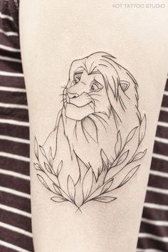 Lioness And Cub Tattoo, Lion Tattoo, Cute Tattoos For Women, Tattoos For Women Half Sleeve, Disney Artwork, Disney Drawings, Tattoo Sketches, Art Sketches, Body Art Tattoos
