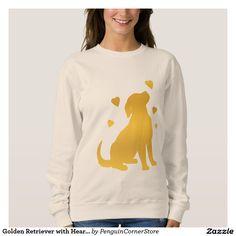 Golden Retriever with Hearts Sweatshirt