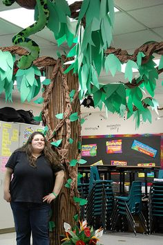 butcher paper tree in classroom - Google Search