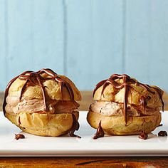Chocolate Hazelnut Cream Cheese Puffs - use real whipping cream rather than Cool Whip #unleavened