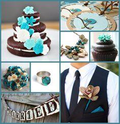 30 best Teal & Brown Wedding images on Pinterest | Wedding stuff ...
