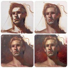 http://www.freshdesigner.com Alla-prima head painting / portrait painting process by Chris Legaspi. Oil on canvas.