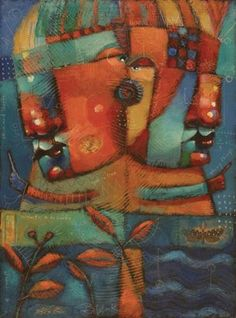"Daily Paintworks - ""Tiger Tamers"" - Original Fine Art for Sale - © Brenda York"