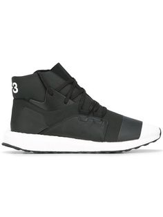 Y-3 Lace-Up Hi Top Sneakers. #y-3 #shoes #flats