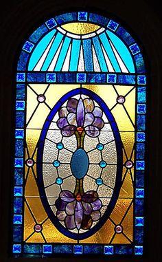 Stained glass window design by Michael Limberakis