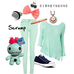 Scrump Disneybound by starrybluepoet on Polyvore featuring Converse and Jigsaw