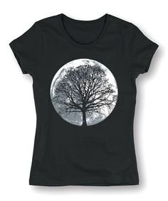 Another great find on #zulily! Black Moon Tree Fitted Tee #zulilyfinds