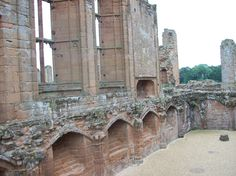 The ruins of Kenilworth Castle, the home of Robert Dudley, Earl of Leicester. This is where Elizabeth I visited him on progress.