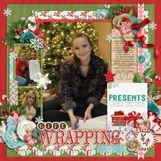 Credits:  Cindy's Layered Templates - Photo Focus MEGA Pack by Cindy Schneider   Merry Christmas Baby: Bundle by Amber Shaw & Kristin Cronin-Barrow  Christmas Layout  Layout by Kjersti Sudweeks  Sweetshoppe Designs  12x12 Scrapbook Layout