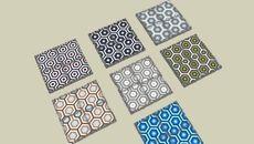 Model of Carreaux de ciment BAHYA motif Lunatic - BAHYA cement tiles Lunatic pattern