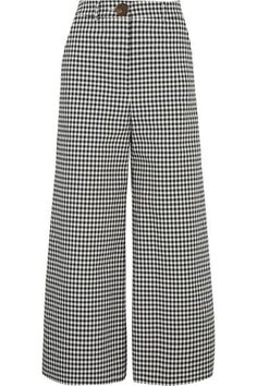 """If you're looking for an easy way to update your work wardrobe, simply invest in a pair of checked pants,"" says The EDIT, and this pair by A.W.A.K.E. fit the bill perfectly. Made in the UK, they are tailored from a black and white gingham woven fabric and are designed to sit at the slimmest point of your waist. Wear them with the matching top."
