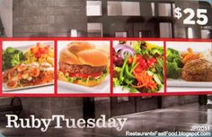 Win $25 Ruby Tuesday Gift Card prize is listed on the UBP2013 prize page which ends April 12.