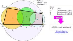 Math Geometry Problem 73. Three Intersecting Circles, Secant, Chord, Cyclic Quadrilateral, Angles. High School, College