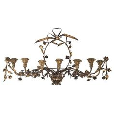 Check out this item at One Kings Lane! Italian Gilt & Tole Basket Sconce
