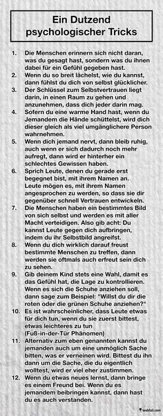 Ein Dutzend psychologischer Tricks - Win Bild Aware and avoid. Or use and grow. // A few psychological tricks with which we consciously and unconsciously influence and are influenced. Cute But Psycho, Affirmations, Mind Tricks, Psychology Facts, Psychology Notes, The Words, Better Life, Good To Know, Life Hacks