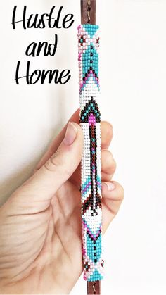 Beaded under over whip arrow pattern by HUSTLEandHOME on Etsy