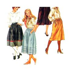 Uncut Sewing Pattern Misses Skirts Vintage Simplicity 6370 Size 18