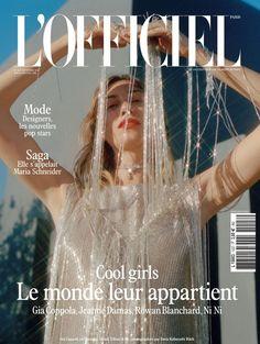 """L'Officiel Paris, un magazine mensuel qui sublime la mode, le luxe et la beauté. Plus ancien féminin français, il a fêté en octobre 2011 ses 90 ans (numéro disponible dans la page \""""anciens numéros\""""), et continue de refléter l'esprit du moment. Découvreur de talents, dénicheur des tendances d'aujourd'hui et de demain, l'Officiel Paris est le meilleur allié d'une femme active et moderne. L\'Officiel Paris, l'Art du Style. Maria Schneider, Jeanne Damas, Rowan Blanchard, Gia Coppola, Paris Mode, Art Walk, Iconic Women, Print Magazine, Gorgeous Women"""