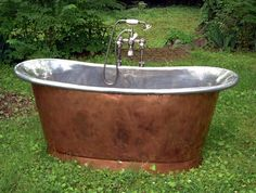 vignette design: More Romance in the Bathroom: Copper and Nickel Soaking Tubs