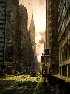 Post apocalyptic New York (conceptual art by Amartia on deviantART)