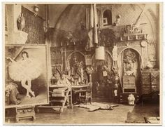 Georges Clairin in his studio, ca. 1885, unidentified photographer. Photographs of artists in their Paris studios, Archives of American Art, Smithsonian Institution.
