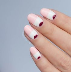 40 Easy Nail Art Designs for Beginners - Simple Nail Art Design Dot Nail Designs, Simple Nail Art Designs, New Nail Art, Easy Nail Art, Long Oval Nails, Popular Nail Art, Nail Art For Beginners, Geometric Nail Art, Minimalist Nails