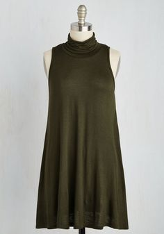Ease to Meet You Tunic in Olive - Green, Solid, Boho, Sleeveless, Fall, Better, Variation, Cowl, Winter, Long, Knit