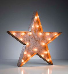 I think I need this. Vintage Marquee Lights - Ready to Ship - Star. $199.00, via Etsy.