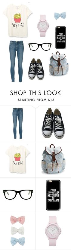 """""""BFF school outfits: me!"""" by holly-hills ❤ liked on Polyvore featuring Frame Denim, Converse, Aéropostale, Muse, Casetify, Decree and Juicy Couture"""