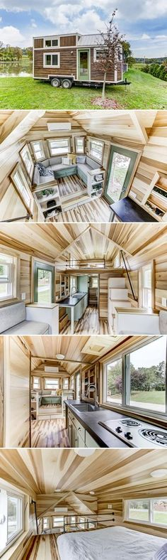 From Modern Tiny Living is the Point, a beautiful 20' tiny house that combines the Kokosing design with the function and value of their Mohican model.