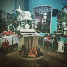 Wooden barrels Lampshade, mannequin jewelry display  #emeraldinceptions #mintsparrowshop #vintage