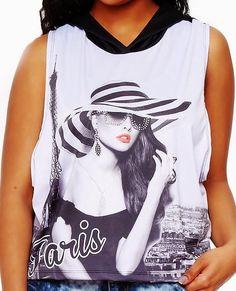 PARIS DIVA * GLAM * BLUSH * EMBELLISHED SLEEVELESS HOODIE BBW Sz. 3x NWT #Blush #SleevelessHoodie