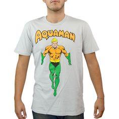 Dc Comics Aquaman Justice League Grey Licensed T-Shirt