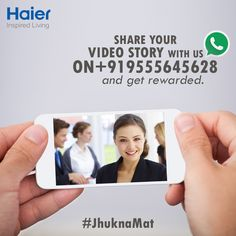 Now is your chance to tell your story of courage in standing tall in life for your morals! Share your video story with us on +919555645628. We are listening!   #Haier #Contest #ContestAlert
