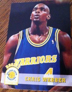 Chris Webber 1994 Golden State Warriors Rookie Card #GoldenStateWarriors