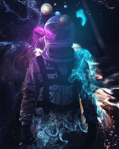 Astronaut Wallpaper, Effects Photoshop, Aesthetic Images, Photoshop Design, Love Images, Visual Effects, Sci Fi Art, Daydream, Cosmos