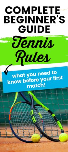 If you are a beginner tennis player you will want to know these tennis rules before your first tennis match or tournament.  Walk on the tennis court with cofindence. Tennis Rules, Tennis Gear, Tennis Tips, How To Play Tennis, Tennis Match, Tennis Players