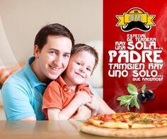 **Nuestra pizza  de ternera es única...como el viejo** ---Feliz dia a todos los padres este domingo--- #EnCualquierLugarEnCualquierMomento