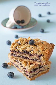 Crostata integrale a strati con confettura Healthy Cake, Vegan Cake, Healthy Sweets, Vegan Desserts, Mug Recipes, Sweet Recipes, Cake Recipes, Cookies Light, Light Cakes