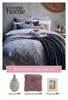 Layer your bed with duvets, pillows and throws to create a luxurious, comfy oasis that you can't wait to jump into Dream Bedroom, Home Bedroom, Bedroom Decor, Calm Bedroom, Bedroom Ideas, Bedrooms, Boho Duvet Cover, Pink Bedroom For Girls, Bedroom Crafts